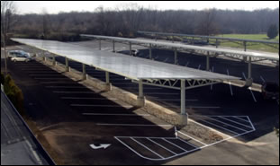 Parking lot solar panels