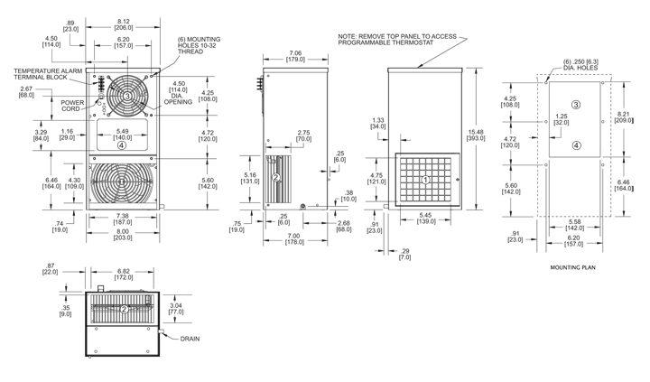 Guardian DP15 Air Conditioner general arrangement drawing