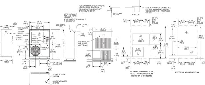 Profile DP17 Air Conditioner general arrangement drawing