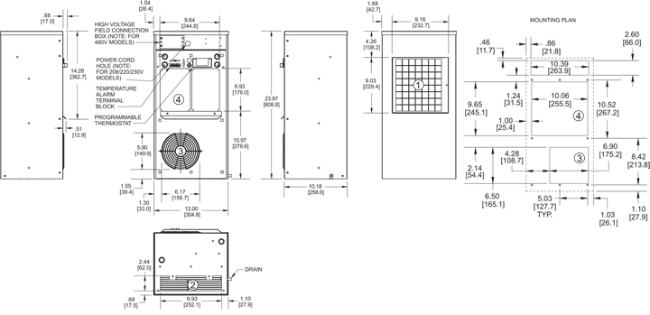 Guardian DP24 Air Conditioner general arrangement drawing