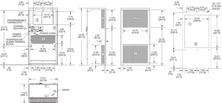 Guardian DP33 Air Conditioner general arrangement drawing