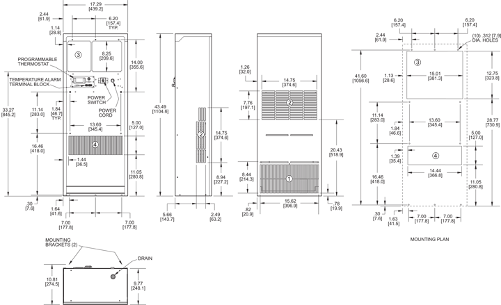 Guardian DP43LV Air Conditioner general arrangement drawing