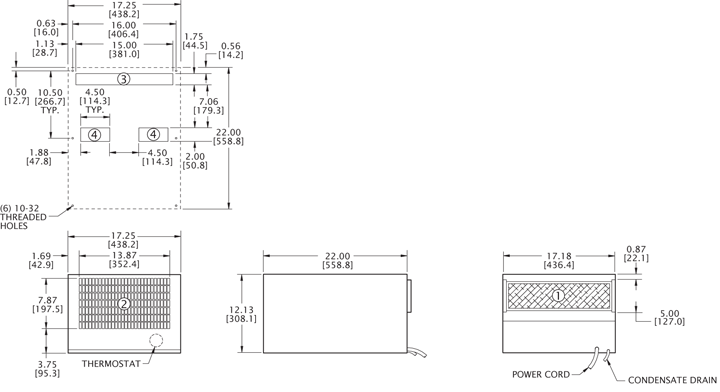 H5 (Legacy) Air Conditioner general arrangement drawing