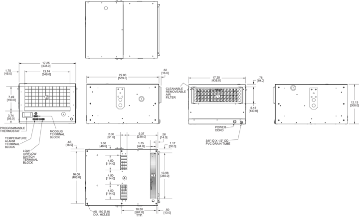 KA4C6.0H5R-4 Air Conditioner general arrangement drawing