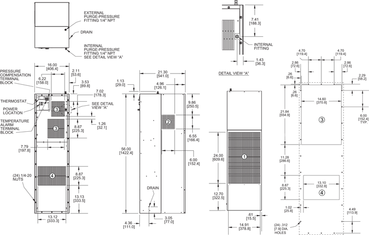 Hazardous Loc. HL56 Air Conditioner general arrangement drawing