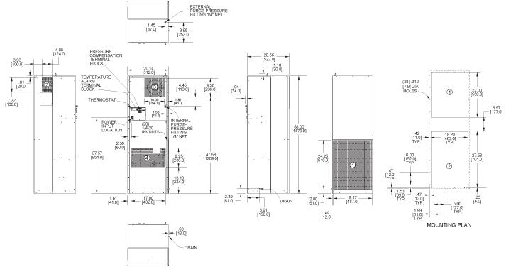 Hazardous Loc. HL58 Air Conditioner general arrangement drawing