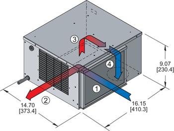 Horizontal Super-Mini Air Conditioner isometric illustration
