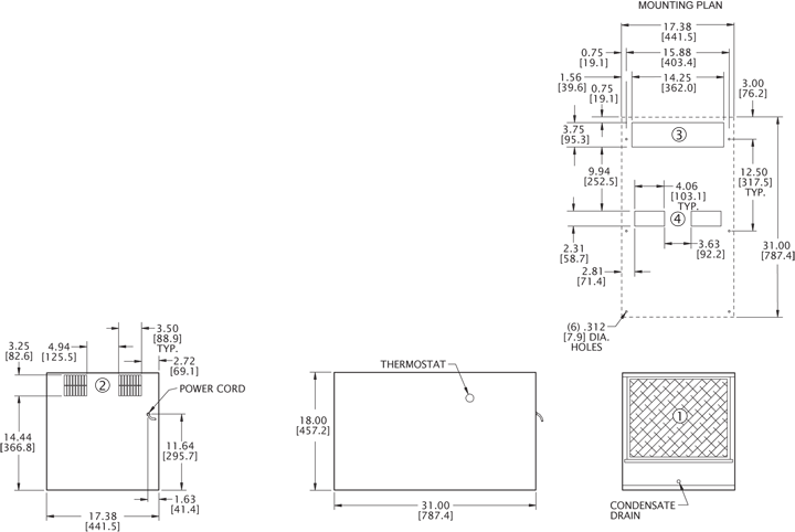 HT12 (Dis.) Air Conditioner general arrangement drawing
