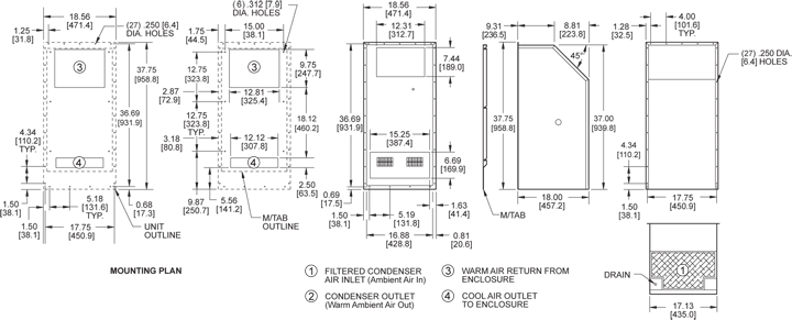 Integrity P38 Air Conditioner general arrangement drawing