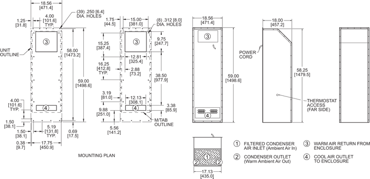 Integrity P59 Air Conditioner general arrangement drawing
