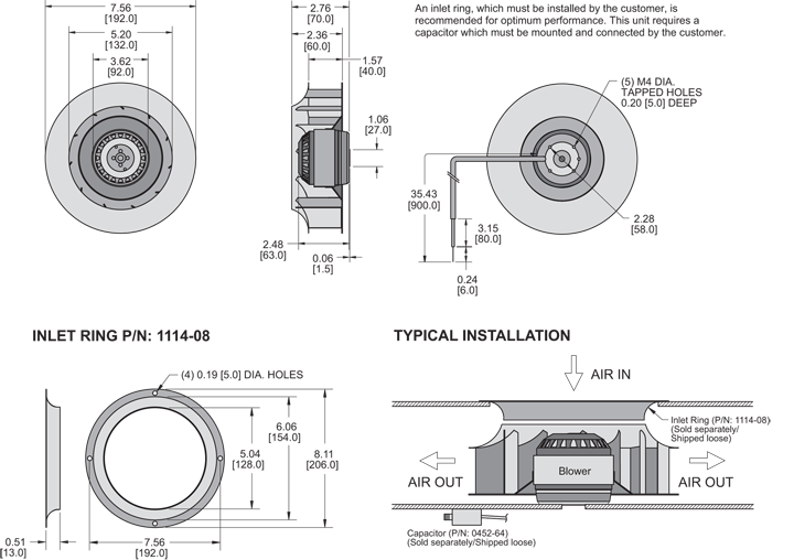 K2BC2E192/40B Impeller general arrangement drawing