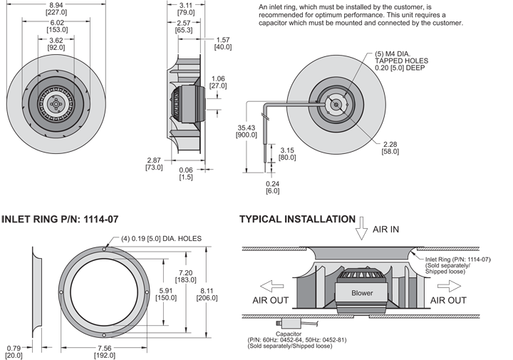 K2BC2E225/40A Impeller general arrangement drawing