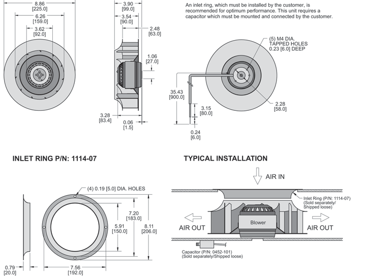 K2BC2E225/63C Impeller general arrangement drawing