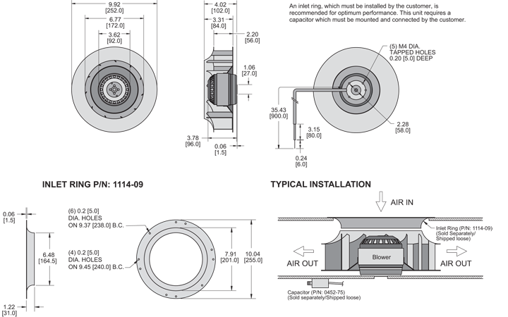 K2BC2E250/56D Impeller general arrangement drawing