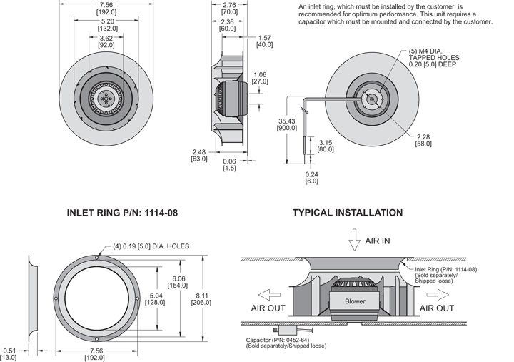 K2BC4E192/40A Impeller general arrangement drawing