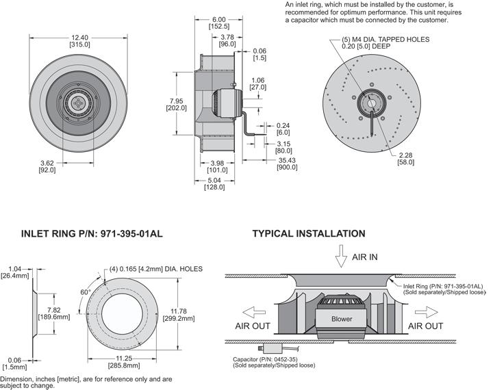 K2BC4E315/101A Impeller general arrangement drawing