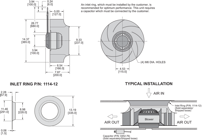 K2BC4R355/127A Impeller general arrangement drawing