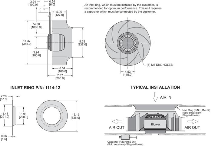K2BC4R355/127C general arrangement drawing