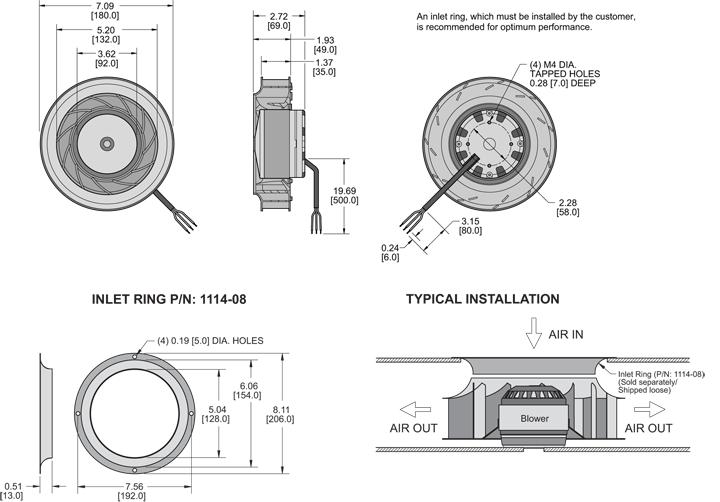K7BCE180/35A Impeller general arrangement drawing
