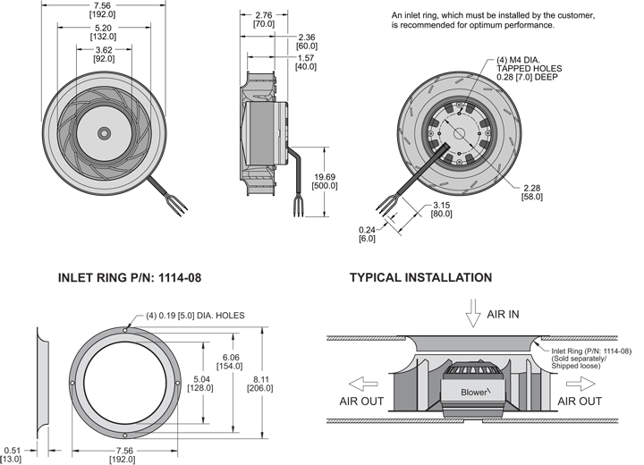 K7BCE192/40A Impeller general arrangement drawing