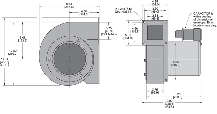 KBB65 H.P. Blower general arrangement drawing