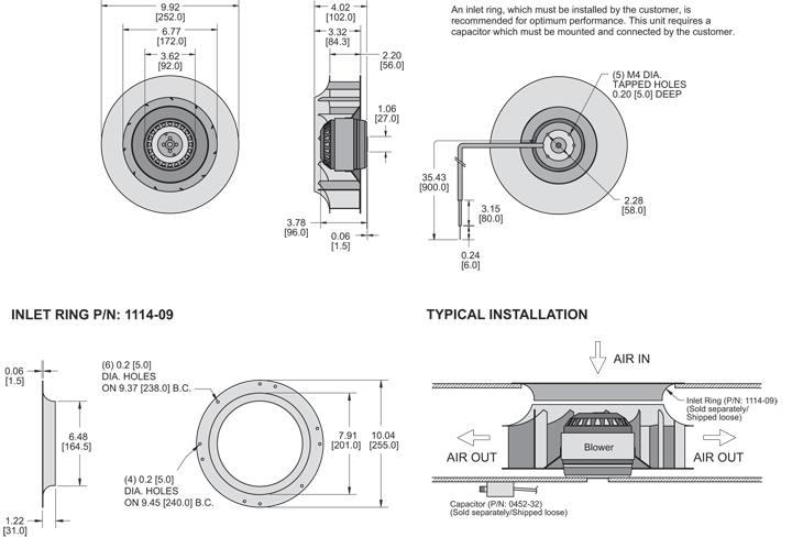KBC2E250/56B Impeller general arrangement drawing