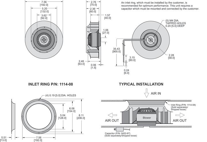KBC4E192/40A Impeller general arrangement drawing