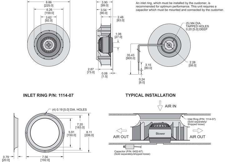 KBC4E225/63C Impeller general arrangement drawing