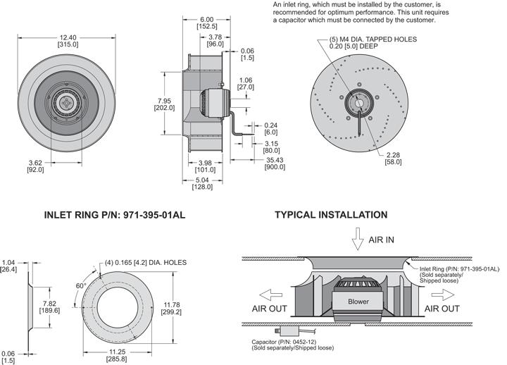 KBC4E315/101A Impeller general arrangement drawing