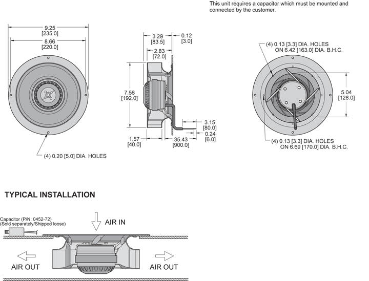 K2BCN2E192/40A Impeller general arrangement drawing