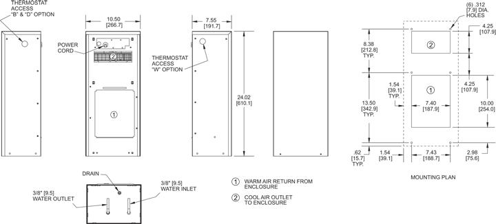 KNHE24 Heat Exchanger general arrangement drawing