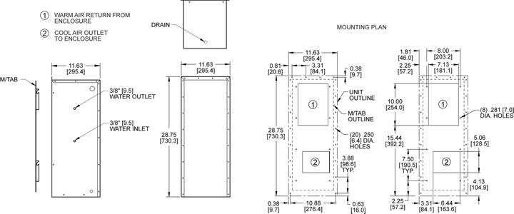 KNHE28 Heat Exchanger general arrangement drawing