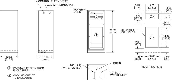 KNHE30 Heat Exchanger general arrangement drawing