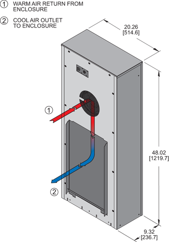 KNHE48 Heat Exchanger isometric illustration
