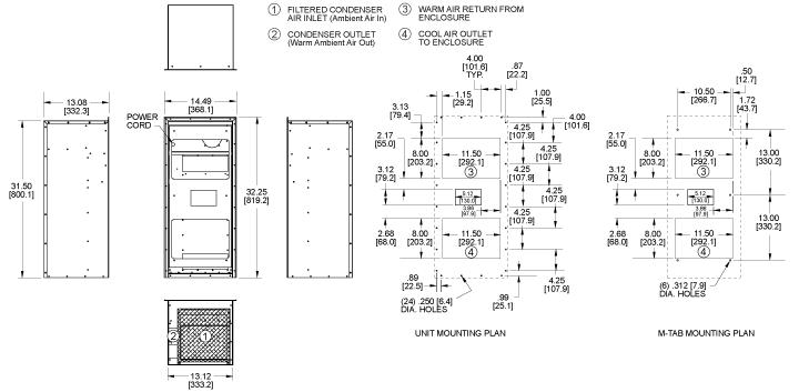 Integrity KNHX32 Heat Exchanger general arrangement drawing