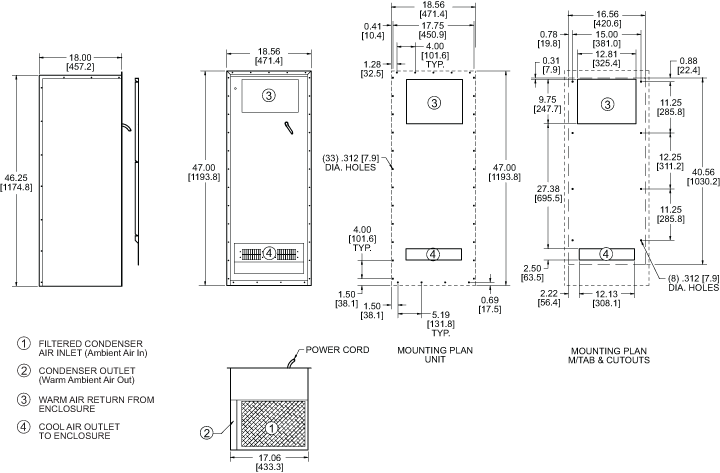 Integrity KNHX47 Heat Exchanger general arrangement drawing