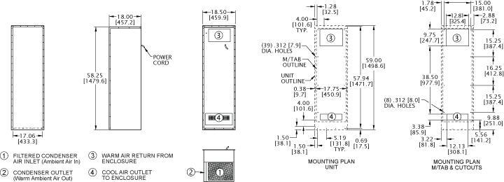 Integrity KNHX59 Heat Exchanger general arrangement drawing