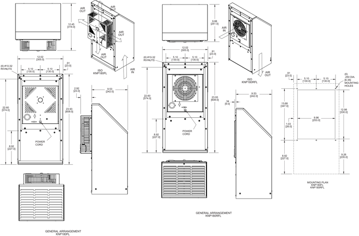 Guardian KNP180 general arrangement drawing