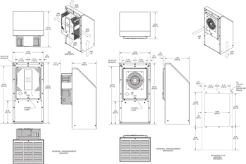 KNP225FL Filter Fans general arrangement drawing