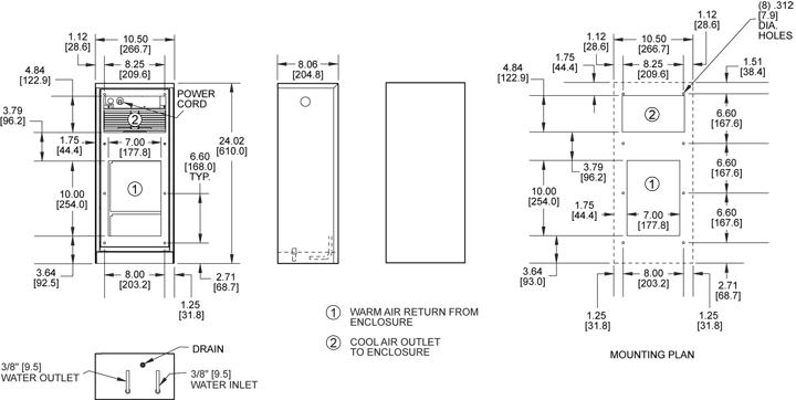 KPHE24 Heat Exchanger general arrangement drawing