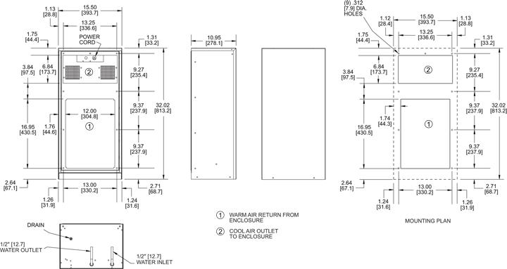 KPHE32 Heat Exchanger general arrangement drawing