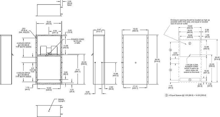 KPHE39 Heat Exchanger general arrangement drawing