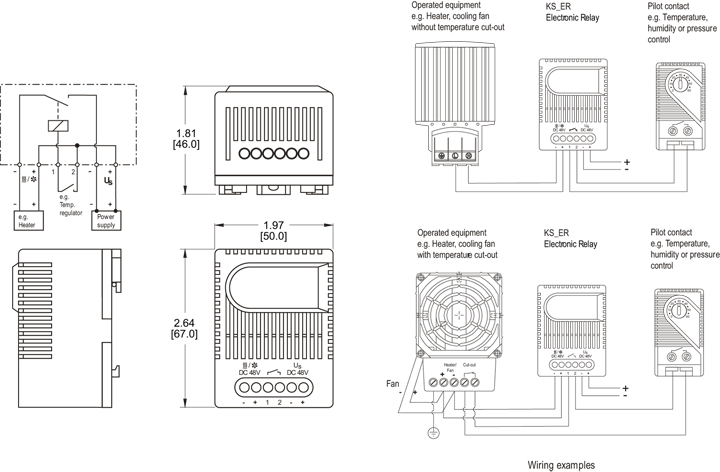 Electronic Relay General Arrangement Drawing