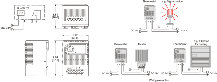 24v Thermostat general Arrangement Drawing