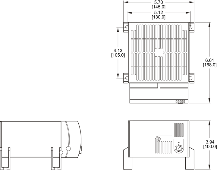 Foot-Mounted Heater General Arrangement Drawing