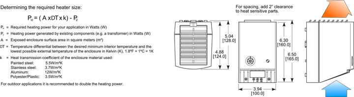 kooltronic ptc fan heater 50 hertz general arrangement drawing