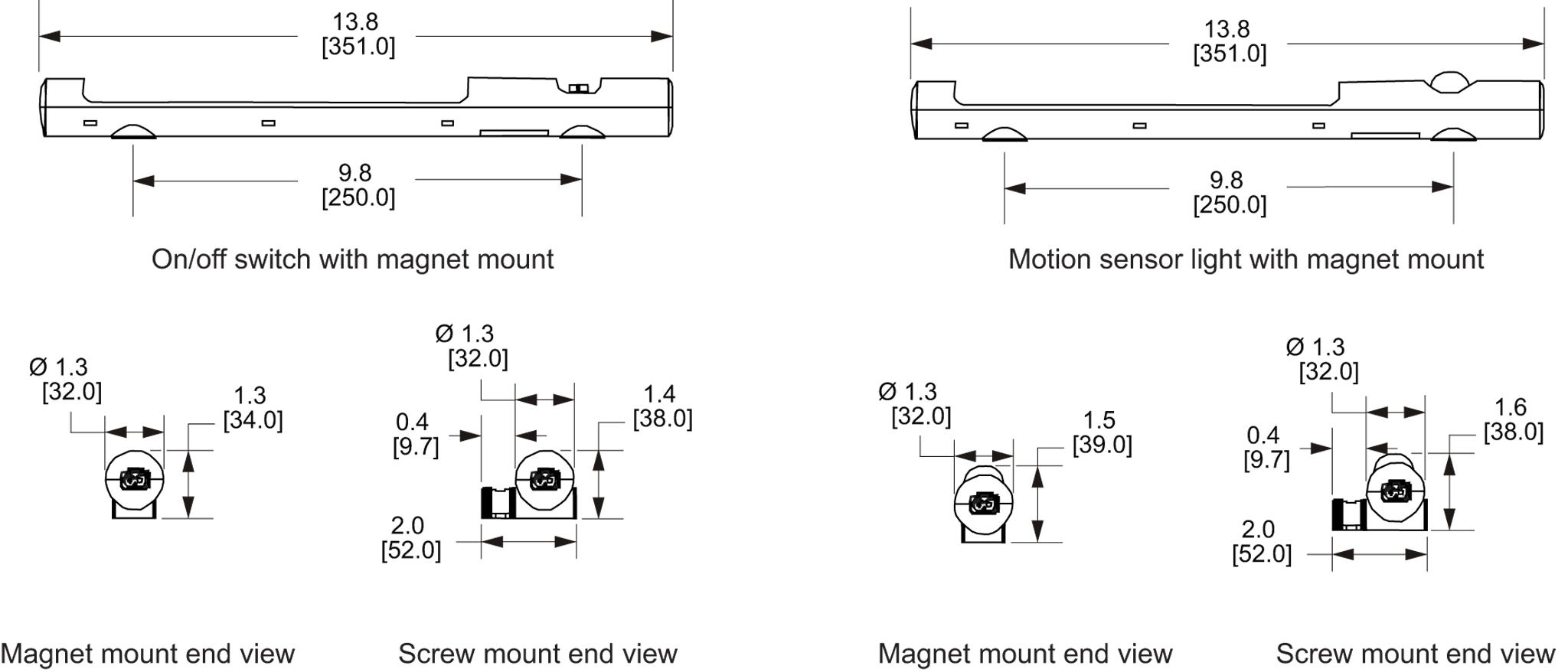 LED Enclosure Light General Arrangement Drawing