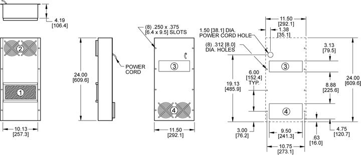 KXHE120A Heat Exchanger general arrangement drawing