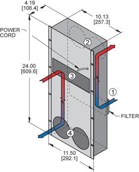 KXHE120A Heat Exchanger isometric illustration