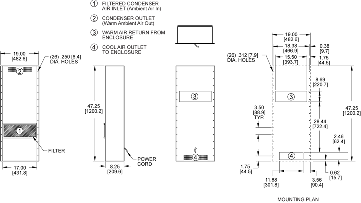 KXHE245A Heat Exchanger general arrangement drawing
